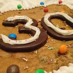 Suare numbered cookie cake