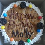 Double layer cookie cake with Oreos