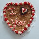I love you cookie cake heart shaped