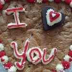Valentines day cookie cake
