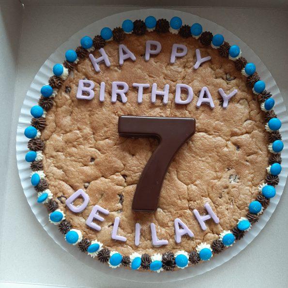 Cool Chocolate Chip Cookie Cake 30Cm Julies American Cookies The Hague Personalised Birthday Cards Veneteletsinfo