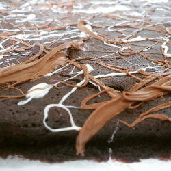 Close up of our fudge brownies