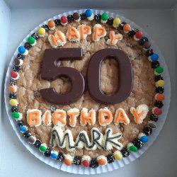 Happy 50th Birthday cookie cake