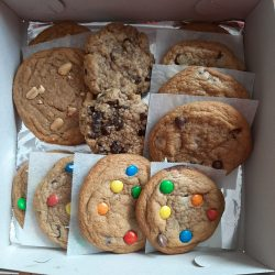 Assorted cookies in a box