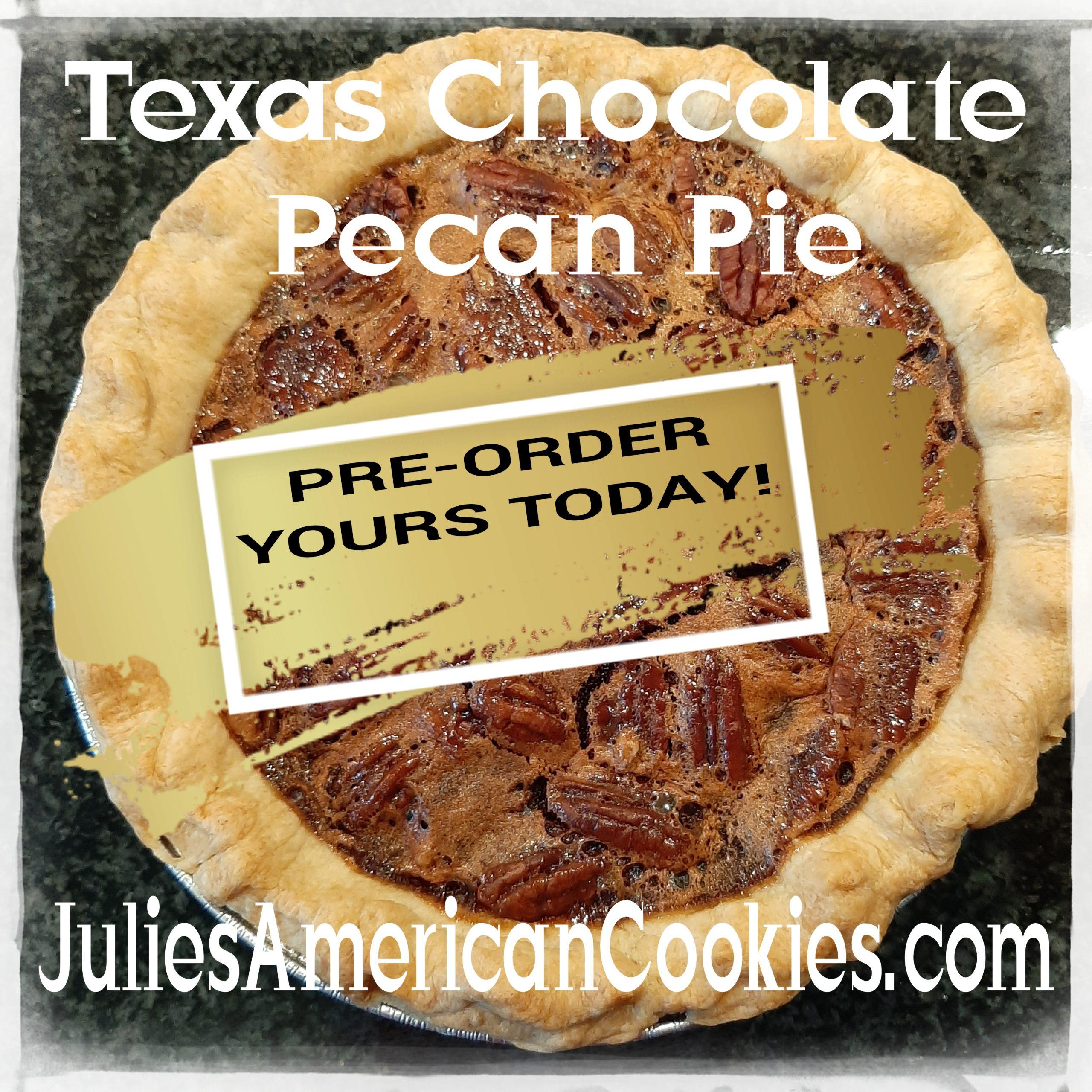 Chocolate Pecan Pie (9in/22.8cm)