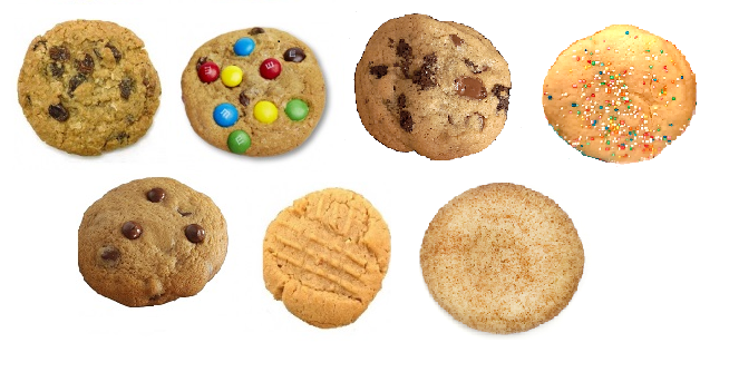 7 cookie flavors