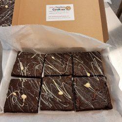 box of 6 chocolate brownies