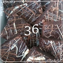 36 Chocolate Deluxe Brownies