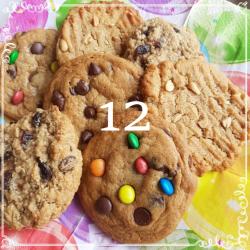 12 mixed cookies