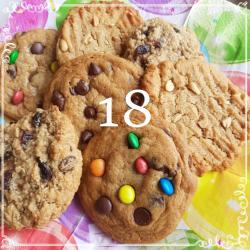 18 mixed cookies
