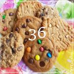 36 mixed cookies