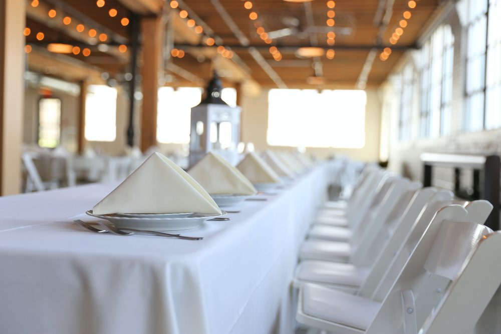 catering event table set